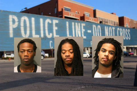 From left: Kenyon Armstong, 18; Markis Hubbs, 24 and Marquise Key, 19